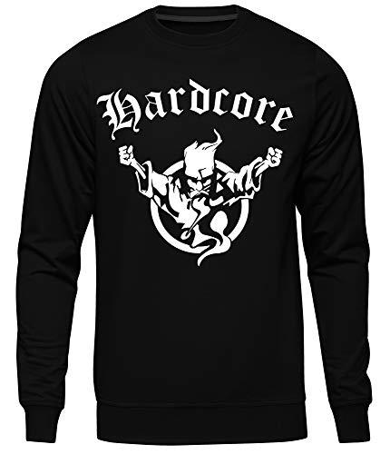 Hardcore Männer Herren Pullover | Musik Techno Electro Rock | M4 (3XL)