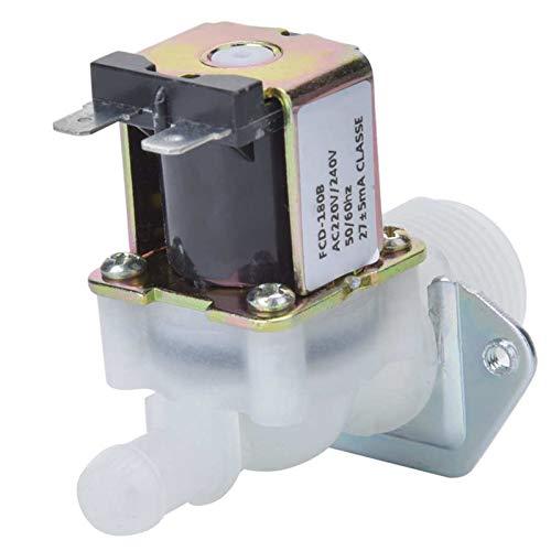 Hongfubang vástago de válvula Válvula de bola del actuador 3 / 4in Válvula solenoide eléctrica Entrada de la válvula de 1 vía Conector de plástico para el hogar usando la válvula solenoide de 220V
