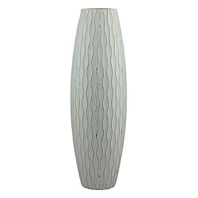 Stonebriar Beach Nostalgia Large Weathered Pale Ocean Wood Vase, Light Blue