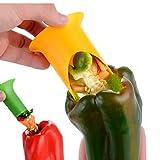 2pcs / Set Creativo de Chile Herramientas sacatestigos del Fruto de Tomate Vegetales Pimienta Corer de Corte máquina de Cortar Herramientas de Utensilios de Cocina para cocinar