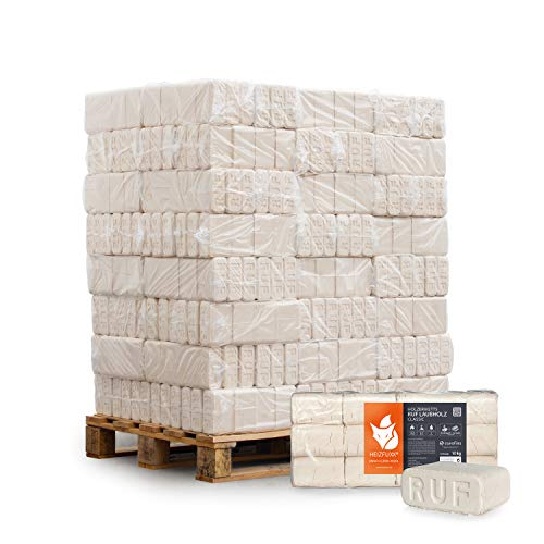 HEIZFUXX Holzbriketts Laubholz Ruf Classic Feuerholz Kamin Ofen Brenn Holz Heiz Brikett 10kg x 96 Gebinde 960kg / 1 Palette Paligo