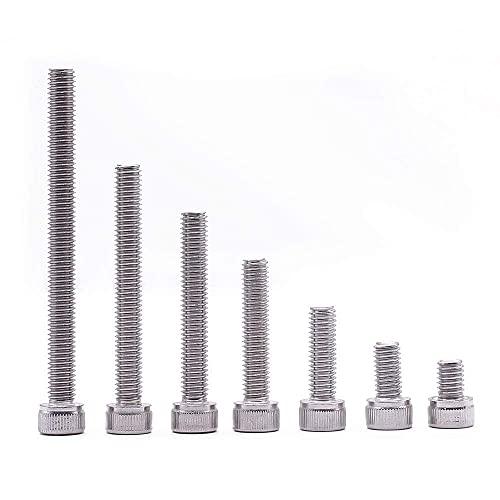 EMUMU Tornillo hexagonal M4 de alta resistencia DIN912 de 12,9 mm, niquelado, para eliminar la fragilidad de hidrógeno (M4 x 10).