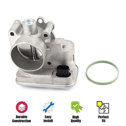 4891735AC Throttle Body for Jeep Compass and Patriot, Dodge Avenger Caliber, Chrysler 200 and Sebring, Engine 2.0/2.4, Years 2007-2017 Replaces 4891735AD 977-025