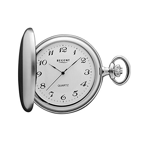 Regent - Taschenuhr - Quarz - Silber - Arabische Ziffern - P21