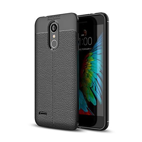 Ebogor para LG K8 (2018) Caso, Litchi Textura Suave TPU Funda Protectora de la Cubierta Posterior Caja del teléfono Creativo (Color : Black)