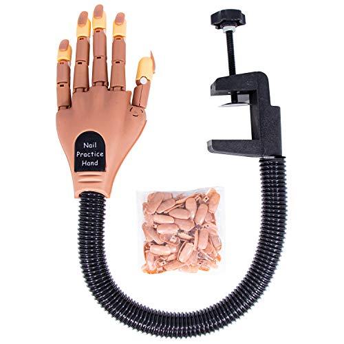 Mano de práctica para uñas acrílicas, entrenador de uñas perfecto para manicura, suministros de tecnología de uñas