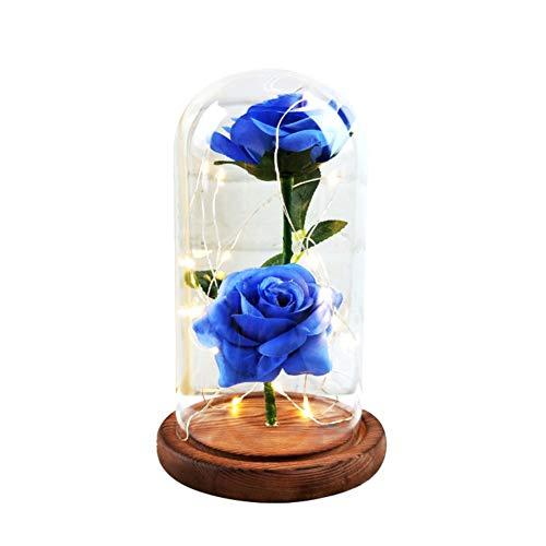 Etopfashion La Bella y la Bestia Azul Rose Kit Scenery Cubierta de Cri