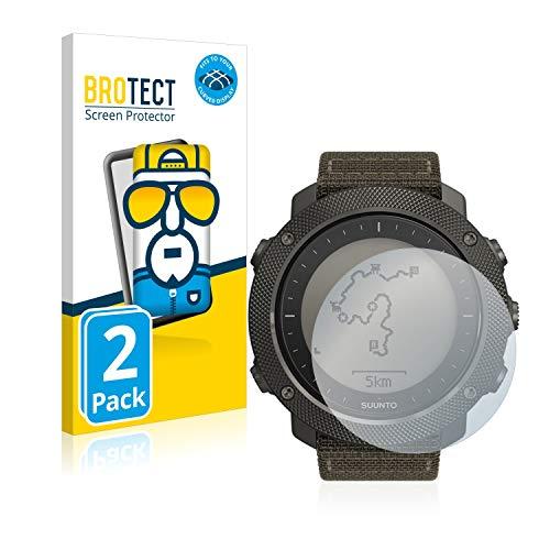 brotect Protection Intégrale 3D Incurvé Compatible avec Suunto Traverse Alpha (2 Pièces) - Couverture Complète, Film Protection Écran
