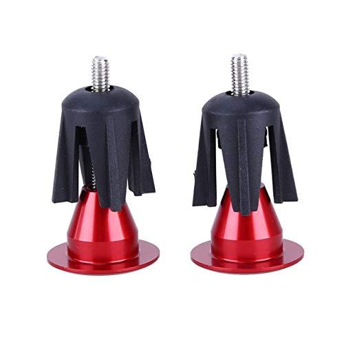 Material de aleación de Aluminio Duradero Mango de Bicicleta Tapones de Extremo de Tapa de Barra Adecuado para la mayoría de Las Bicicletas (Rojo) ESjasnyfall