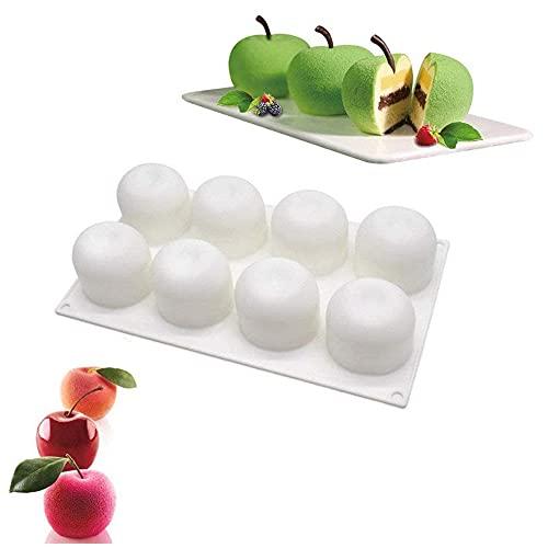 N-O Stampo per Torta in Silicone Forma di 3D per Dolci e Cioccolato Stampo per Torta per Mousse in Silicone di Alta Stampo Ciambellone Stampi per Cottura per Gelato Muffin Biscotti Gelatina (Mela)