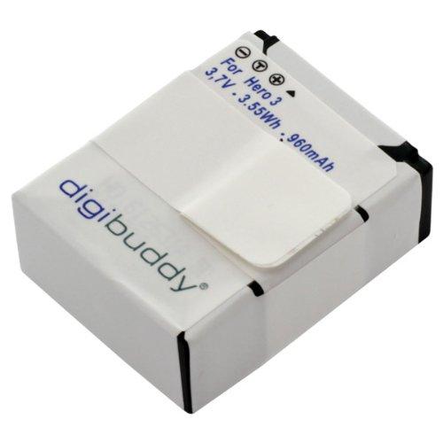 digibuddy Akku für GoPro / Hero3+ Li-Ion Schwarz