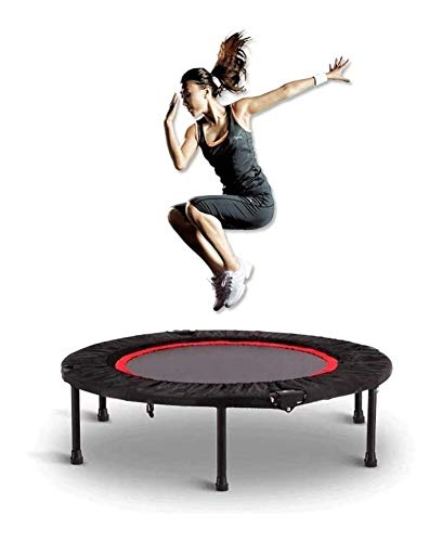 SYLOZ Trampoline, Indoor Children's Indoor Jumping Bed, Outdoor Folding Adult Gym Jumping Bed with Armrests