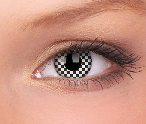 Halloween Kontaktlinse Lustige Linse Kariert 3 Monate Einweg 14 mm stärke 0.00 von ColourVUE