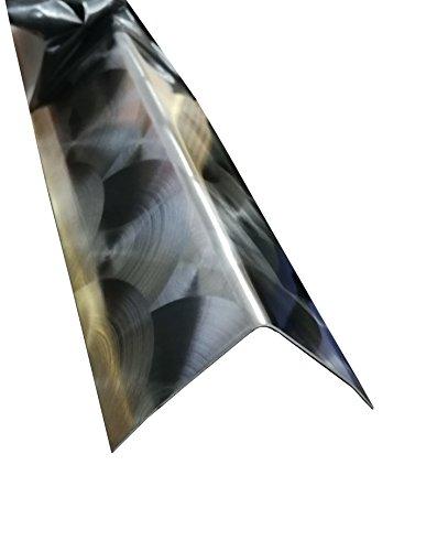 Eckschiene Edelstahl 3-fach gekantet Kantenschutz Eckschiene 2 Meter lang (30x30x0,8 mm, Marmoriert D50)