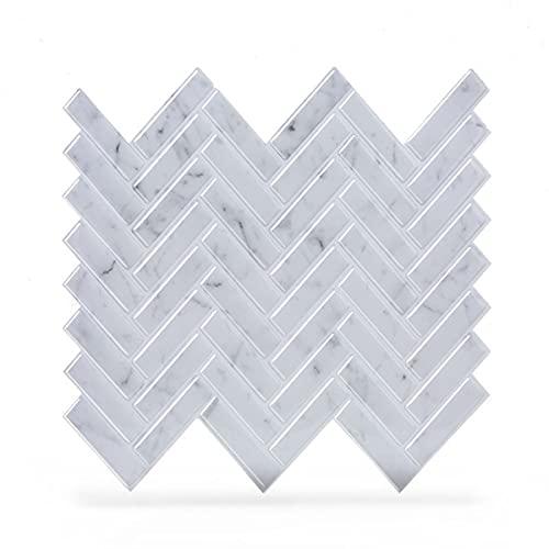 ZHKXBG 4 Piezas de Azulejos para pelar y Pegar, Azulejos Adhesivos para Salpicaduras de mármol de Cielo, Azulejos Adhesivos en Espiga, Azulejos para Pegar en la Cocina y el baño