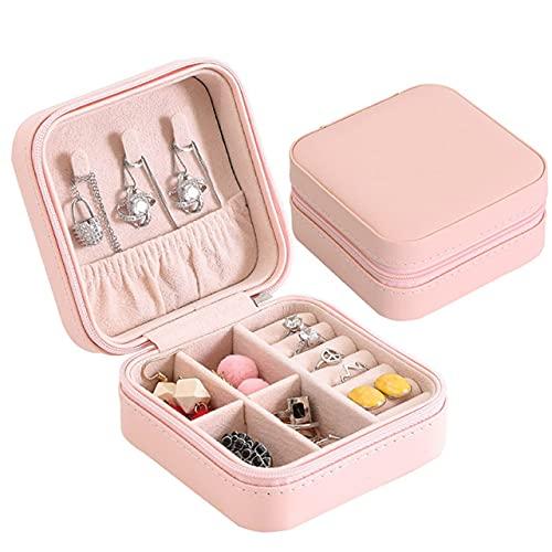 lvenyz PU portátil nuevo simple pendientes caja de joyería pequeño anillo de oreja anillo de múltiples funciones caja de joyería