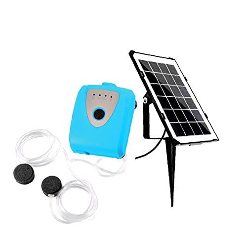 Sraeriot Solar-Wasser-Luftpumpe, Fischbehälter-Oxygenator-Pool-Teich-Luft-Sauerstoff-Pumpenbelüfter für Gartenwasser-Zirkulation Blau