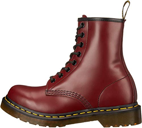 Dr. Marten's Women's 1460 8-Eye Patent Leather Boots, Cherry Red, 13 D(M) US