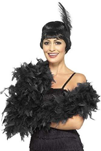 Damen 1920er Jahre 15 Farben Deluxe Feder Boa Charleston Flaper Burlesque Show Moulin Rouge Junggesellinnenabschied Party Kostüm Outfit Zubehör