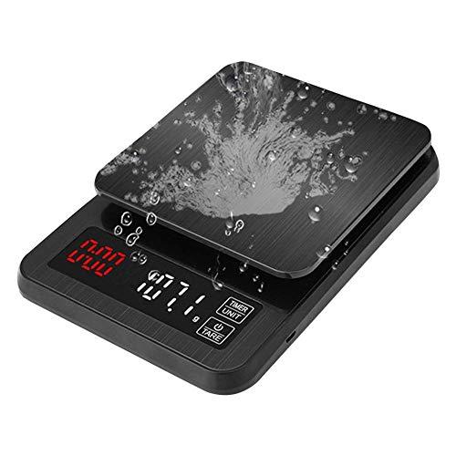Küchenwaage Professionelle handgewaschene Kaffee Genannt Elektronische Waage Chronograph Gewicht Kleine Waage Hohe Präzision (Größe: 3 kg / 0,1 g)