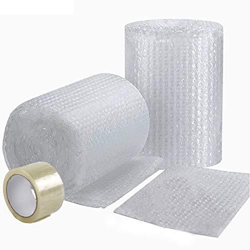 Rouleau de Papier à Bulle 30 métres x 30 cm Prédécoupé - FABRIQUÉ EN FRANCE - + 1 Ruban Adhésif Offert - Idéal Emballage Déménagement ou Expédition Colis - Papier Bulle Épaisseur Renforcée