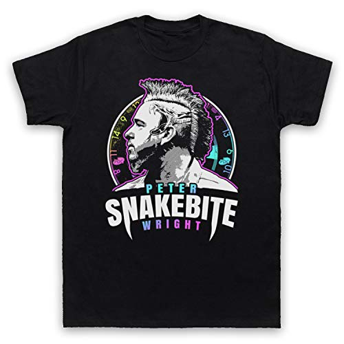 My Icon Art & Clothing Peter Wright Snakebite Darts Tribute Scottish Champion Player Herren T-Shirt, Schwarz, Large