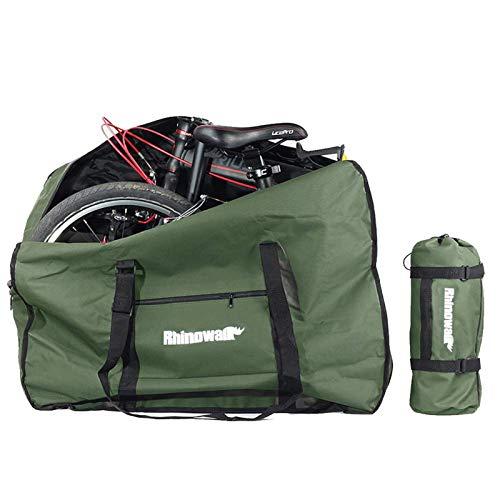 G-raphy Borsa per Bicicletta Pieghevole Sacchetto Porta Bici Borsa da Viaggio per Bici Imbottita Pieghevole 1680D Impermeabile Ciclismo Lounge Bagaglio per MTB Road Bike (Verde)