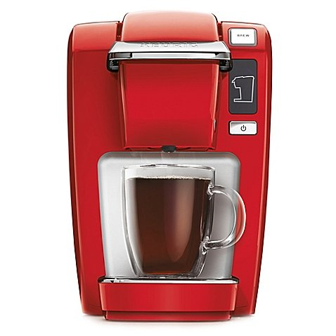 Compact Design Keurig® K10/K15 Brewing System Perfect for smaller spaces, dorms, offices, or vacation homes (Red)