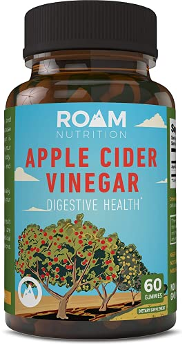 1000mg Apple Cider Vinegar Pills – 60 Gummies - Supports Weight Loss, All Natural Detox - High Potency - USA-Made, Non-GMO Dietary Supplement - Digestive Enzyme & Blood Circulation -by Roam Nutrition