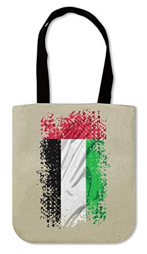 United Arab Emirates Asia Abu Dhabi Country Series Nationality Flag Nice To Canvas Einkaufstasche