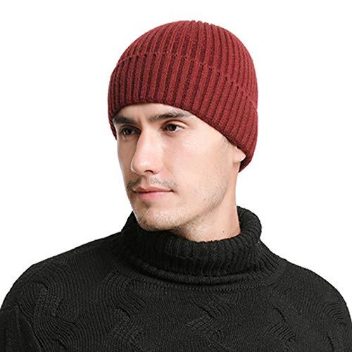 Bonnet Chapeau Homme Beanie Hats, Chapeau Papa Chapeaux d' Hiver pour leshommes Skullies Bonnet d'hiver Casquette Hommes Femmes Casquettes Balaclava Masque Bonnet Gorras Bonnet @ vin