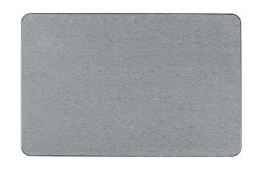 WENKO Simi Tapis de Bain Gris 60 x 39 cm Tapis de Douche Terre de diatomée 39 x 0 x 60 cm