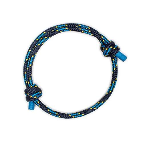 Wind Passion Pulsera Marino Elegante Azul de Cuerda de la Más Alta Calidad para Hombre