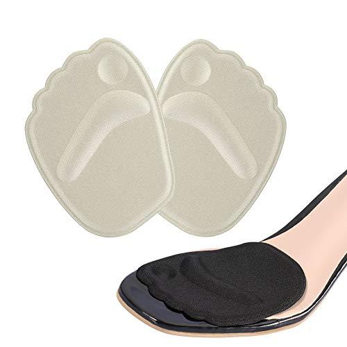 Doact Ballenpolster, Silikon Vorfuß Einlegesohlen (2 Paare) - Soforthilfe bei Vorfuß für die Frauen, die Schuhe zu High Heels tragen(35-40)