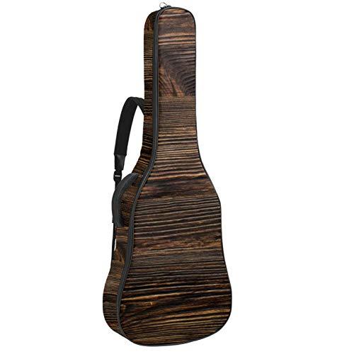 Bolsa para guitarra impermeable con cremallera suave para guitarra, bajo, acústico y clásica, para guitarra eléctrica, bolsa de madera marrón envejecida