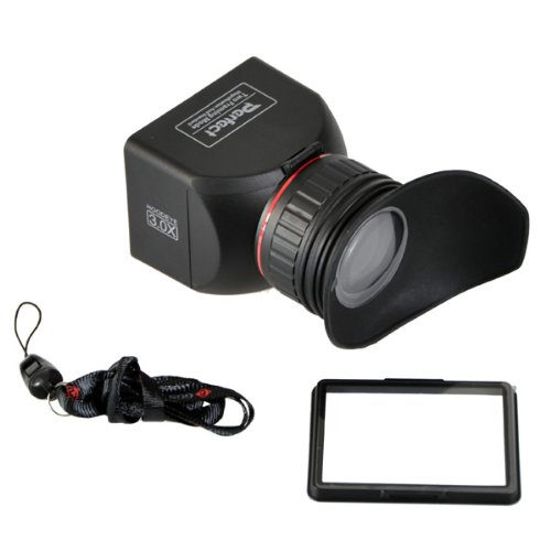 GGS Perfect Foldable LCD Viewfinder 3X Magnification for Canon, Nikon, Sony and Other DSLR Cameras (ggs3.0x LCDVF), Black