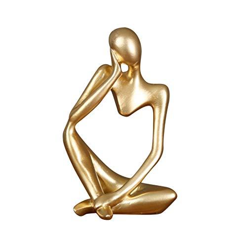 Abstrakt Statue Denker Resin Skulptur Figuren Modern Deko Für Wohnzimmer Europäischen, Einzigartiger Denker-Stil Und Abstraktes Hohles Design, Für Home Office Tischplatte, Teestube