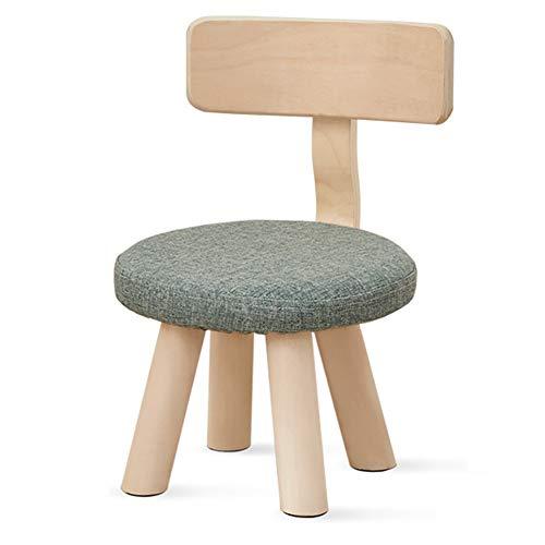 LYXCM Kindergartenhocker, hölzerner Kinderstuhl mit hochelastischem Schwamm/tragbarer mehrfarbiger Stuhl Kleinkinder geeignet für Haus und Kindergarten,Grün,L