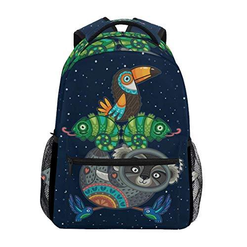 School Bag Aztec Totem Stylish Durable Backpack School Travel College Shoulder Bag Printed Bookbag Unique Casual Student Lightweight Gift