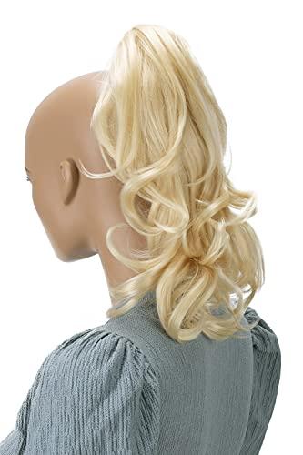 PRETTYSHOP 30cm Postiche Natte Queue De Cheval Extensions De Cheveux Volumineux Ondulé Blonde Platine H84