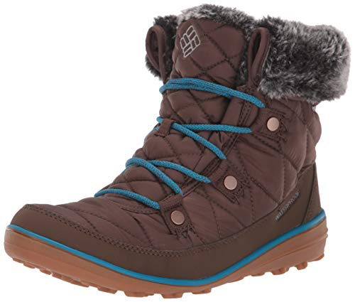 Columbia Women's Heavenly Shorty Omni-Heat Snow Boot, Espresso MHW, deep Ocean, 5 Regular US