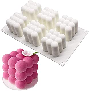 Cube Mold, Silicone Mold for Baking Chocolate Cake, 3D Dessert Mould for Pastry Mousse Dessert Trifle Pudding Jelly Cheese...