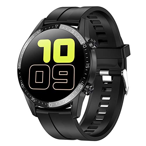 CZX Smartwatch Herren L13C Frauen-Smartwatch MTK2502 1.4 IPS Full Touch Screen-IP68 wasserdichte Puls-Monitor-Anti-verlorene Fitness Tracker,B