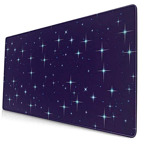 Night Sky with Stars Extended Large XL Gaming Mouse Pad, Keyboard Mouse Pad 29.5 X 15.7 Inch with Stitched Borges Alfombrilla de teclado de escritorio Alfombrilla para el trabajo, la oficina, el hogar