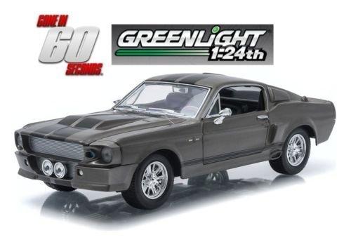 Greenlight New 1:24 W/B Gone in 60 Seconds Eleanor - Grey 1967 Custom Mustang Diecast Model Car