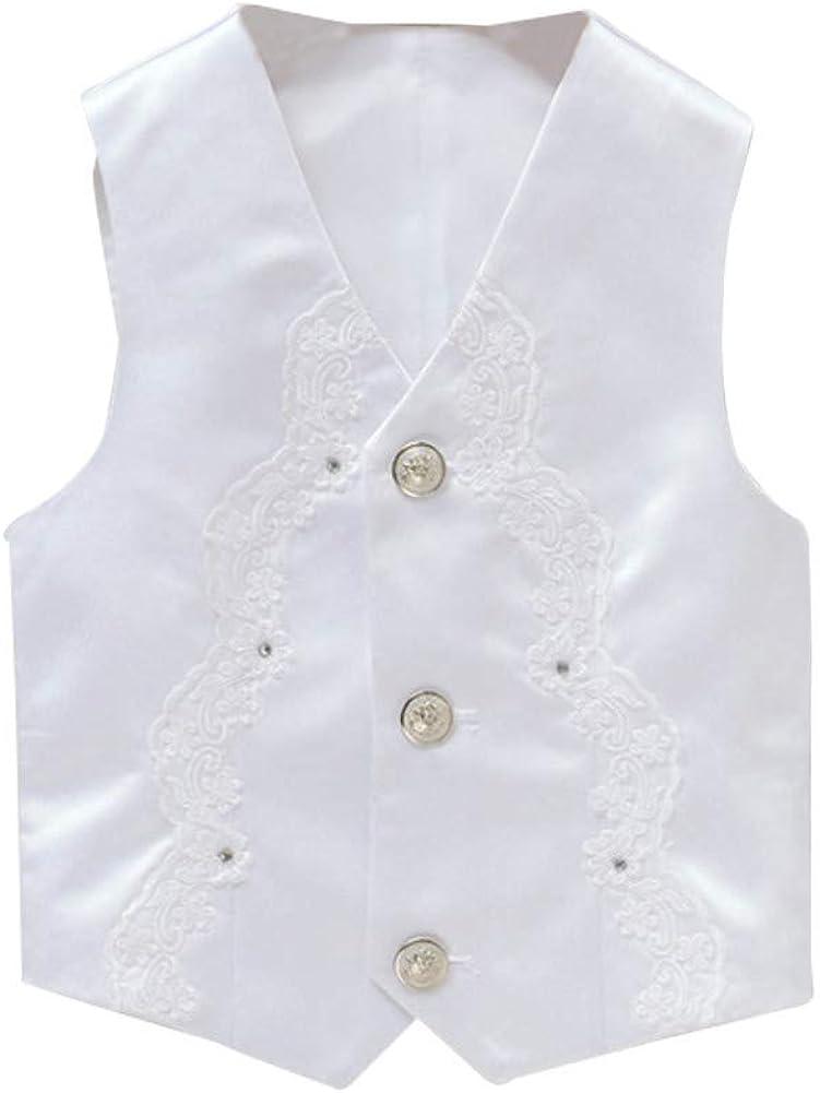 Mud Kingdom Little Boy Formal Suit Vest V-Neck Single-Breasted