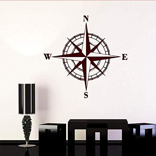 Kompass Wandaufkleber Dekoration Für Schlafzimmer Dekoration Weltkarte Kompass Wandtattoo 43X42Cm