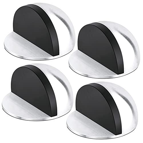 IWILCS Topes de puerta de 4 piezas, topes de acero inoxidable, topes de puerta de acero inoxidable Autoadhesivos, para todos los suelos duros