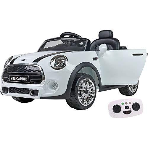 W'Toy Mini Cooper Cabrio - Coche eléctrico, color blanco, número de referencia:...