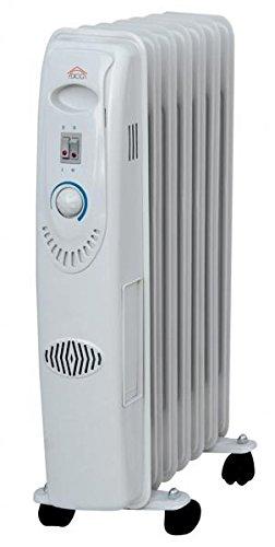 DCG Eltronic ra2807 Floor 1500 W Black, White RADIATOR Elektrische Space Heaters - Elektrische Space Heaters (RADIATOR, Black, White, 230 V, 50 Hz, 377 mm, 172 mm)
